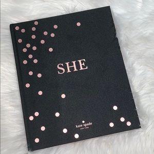 "Kate Spade ""She"" book NEW"